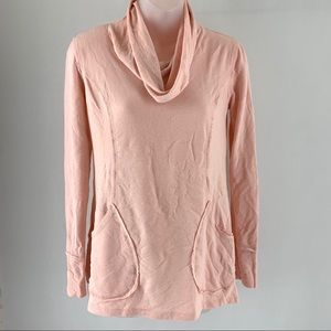 Cable & Gauge Pink Cowl Neck Pullover Sweater